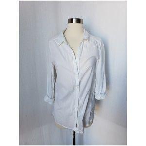 {h&m} white button down shirt